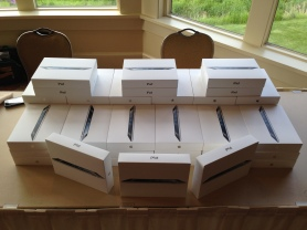 The iPads were distributed last night (6/6/2013) at an all staff meeting to kick off Grand's iPad initiative.